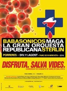 Cartel del concierto 'Disfruta. Salva vidas.'